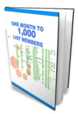 Product picture One Month To 1000 List Members - Increase Traffic